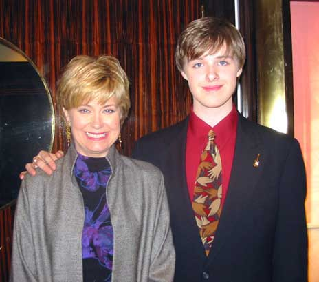 Nick with Jane Pauley at the NBC Studios in New York City in March 2005
