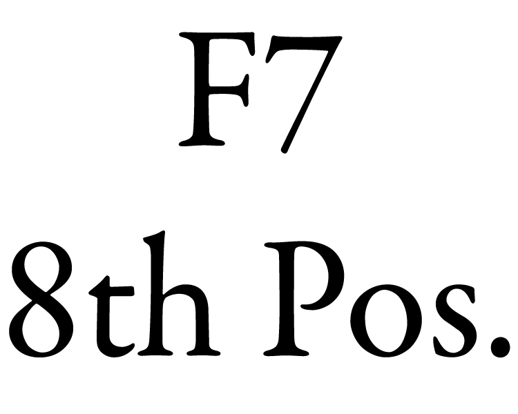 image of an easy beginner f seven guitar chord eighth position